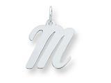 Sterling Silver Medium Script Initial M Charm style: QC5082M