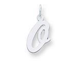 Sterling Silver Medium Script Initial O Charm style: QC5082O