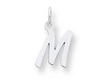 Sterling Silver Small Initial M Charm style: QC5092M