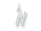Sterling Silver Small Initial N Charm style: QC5092N