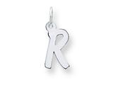 Sterling Silver Small Initial R Charm style: QC5092R
