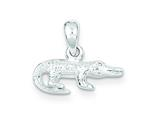 Sterling Silver Alligator Charm style: QC6129