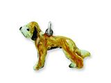 Sterling Silver Enameled Briard Charm style: QC6381