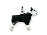 Sterling Silver Enameled Schnauzer Charm style: QC6422