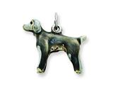 Sterling Silver Enameled Weimarander Charm style: QC6424