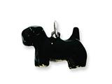 Sterling Silver Enameled Large Scottish Terrier Charm style: QC6429