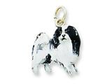 Sterling Silver Enamel Japanese Chin Charm style: QC6446