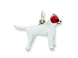 Sterling Silver Enameled Jack Russell Charm style: QC6451