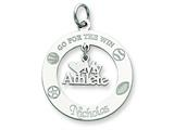 Sterling Silver Personalizable My Athlete Charm style: QC7192