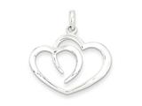 Sterling Silver Polished Heart Pendant Necklace - Chain Included style: QC7475