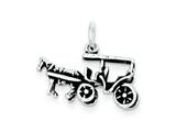 Sterling Silver Antiqued Horse And Carriage Charm style: QC7611