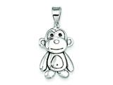 Sterling Silver Monkey Pendant - Chain Included style: QC7905