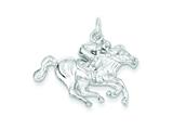 Sterling Silver Race Horse Charm style: QC854
