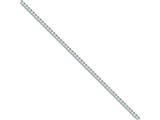 10 Inch Sterling Silver 3mm Curb Chain Ankle Bracelet style: QCB080