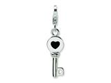 Amore LaVita™ Sterling Silver 3-D Enameled Key w/Lobster Clasp Bracelet Charm style: QCC133