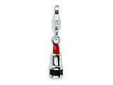 Amore LaVita™ Sterling Silver 3-D Enameled Red Lipstick w/Lobster Clasp Bracelet Charm style: QCC239