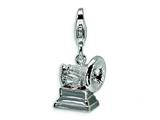 Amore LaVita™ Sterling Silver Record Player w/Lobster Clasp Bracelet Charm style: QCC288