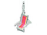 Amore LaVita™ Sterling Silver Enamel Beach Chair w/Lobster Clasp Bracelet Charm style: QCC417
