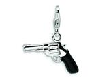 Amore LaVita™ Sterling Silver 3-D Enameled Pistol w/Lobster Clasp Bracelet Charm style: QCC472