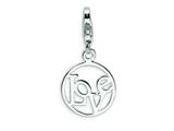 Amore LaVita™ Sterling Silver Love Clip-on w/Lobster Clasp Bracelet Charm style: QCC480