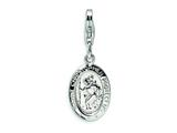Amore LaVita™ Sterling Silver Saint Christopher Medal w/Lobster Clasp Bracelet Charm style: QCC502