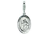 Amore LaVita™ Sterling Silver St. Christopher Medal w/Lobster Clasp Bracelet Charm style: QCC503