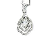 Cheryl M™ Sterling Silver Marquise CZ 18in Necklace style: QCM163