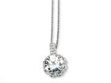 Cheryl M™ Sterling Silver Round CZ 18in Necklace style: QCM181