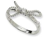 Cheryl M™ Sterling Silver Fancy Bow CZ Ring style: QCM193