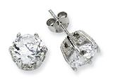 Cheryl M™ Sterling Silver 8mm CZ Stud Earrings style: QCM240