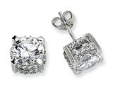 Cheryl M™ Sterling Silver 8mm CZ Stud Earrings style: QCM242