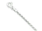 16 Inch Sterling Silver 1.7mm bright-cut Rope Chain style: QDC025