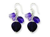 Finejewelers Sterling Silver Amethyst Heart Dangle Earrings style: QE1324