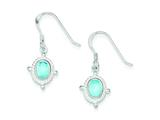 Sterling Silver Blue Topaz Fancy Dangle Earrings style: QE1375
