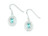 Sterling Silver Blue Topaz Fancy Dangle Earrings style: QE1376