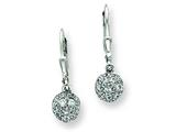 Sterling Silver Cubic Zirconia Leverback Earrings style: QE3105