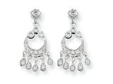 Sterling Silver Cubic Zirconia Chandelier Style Earrings style: QE3222