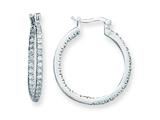 Sterling Silver Cubic Zirconia Hoop Earrings style: QE3242