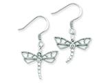 Sterling Silver Cubic Zirconia Dragonfly Earrings style: QE3270