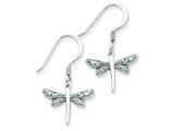 Sterling Silver Cubic Zirconia Dragonfly Earrings style: QE3271