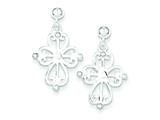 Sterling Silver Cross Post Earrings style: QE4266