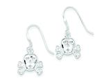 Sterling Silver Cubic Zirconia Skull W/cross Bones Earrings style: QE4762