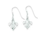 Sterling Silver Cubic Zirconia Fleur-de-lis Earrings style: QE4763