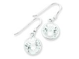 Sterling Silver Round Clear Cubic Zirconia Earrings style: QE4999