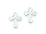Sterling Silver Cross Mini Earrings style: QE506
