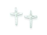 Sterling Silver Cross Mini Earrings style: QE507