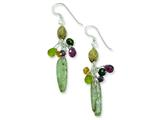 Sterling Silver Citrine Amethyst Peridot Kyanite Jasper Earrings style: QE5573