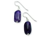 Sterling Silver Amethyst Dangle Earrings style: QE6469