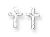 Sterling Silver Cross Mini Earrings style: QE669