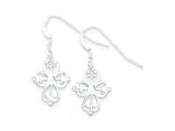 Sterling Silver Cross Dangle Earrings style: QE6920